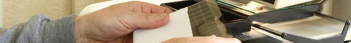 Microform Scanning photo: microfiche reader