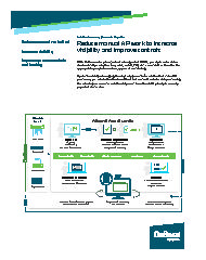 Brochure snapshot, page 1: Reduce manual AP work to increase visibility and improve controls