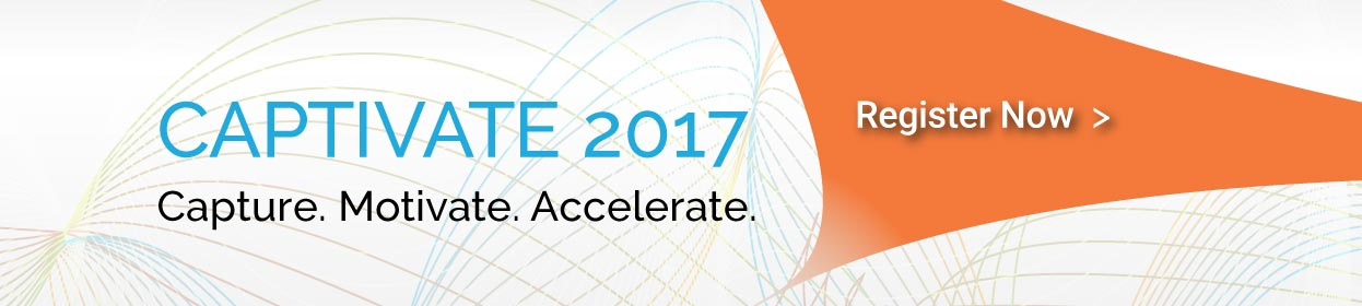 Banner leaderboard: Event: CAPTIVATE 2017 - Capture. Motivate. Accelerate. - Moorestown NJ | May 23