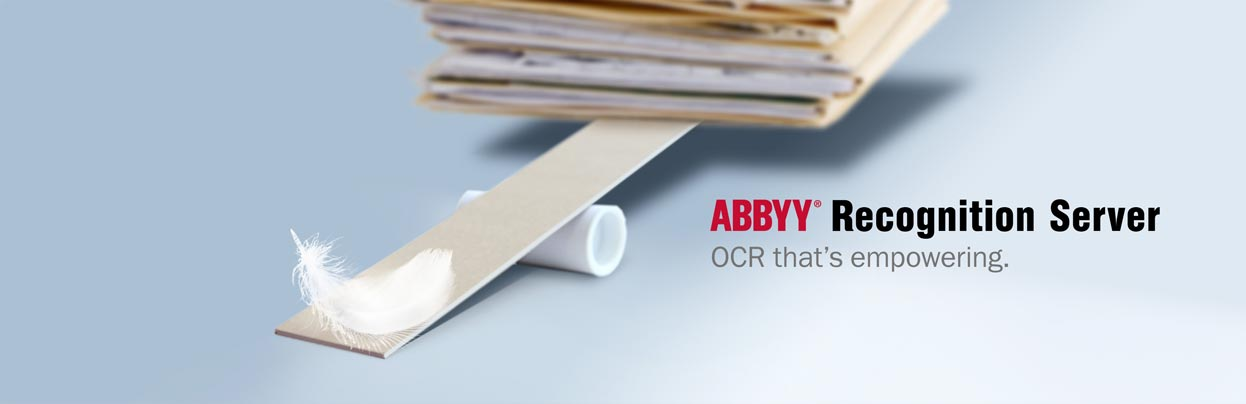 Banner for ABBYY Recognition Server - OCR that's empowering