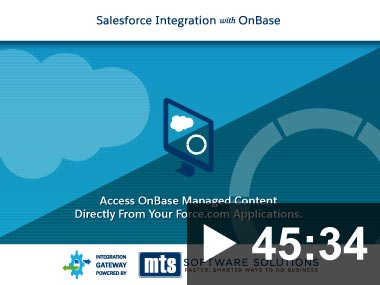 Thumbnail image for Webinar: Salesforce Integration with OnBase for Higher Education 2019-08-29