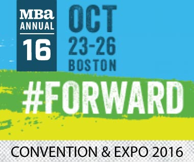 Banner for Mortgage Bankers Association Annual Convention and Expo 2016, October 23-26 in Boston