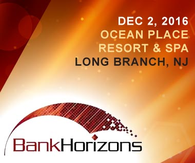 Banner for BankHorizons 2016 Conference, December 2 in Long Branch, New Jersey