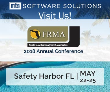 Banner rectangle for Event: Visit Us at 2018 FRMA Florida Records Management Association Conference