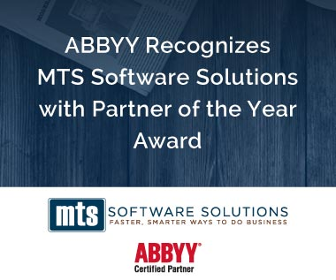 Rectangle Banner for Press Release: ABBYY Recognizes MTS Software Solutions with Partner of the Year Award