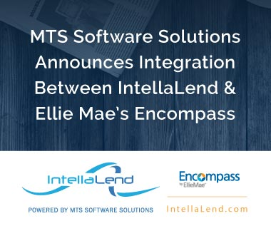 Banner rectangle for Press Release: 2019-03-07 MTS Software Solutions Announces Integration Between IntellaLend and Ellie Mae's Encompass Digital Mortgage Solution
