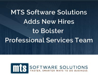 Banner rectangle for Press Release: MTS Software Solutions Adds New Hires to Bolster  Professional Services Team
