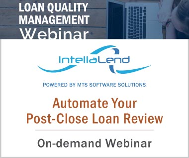 Banner Rectangle for Video: Loan Quality Management Webinar - Automate Your Post-Close Loan Review