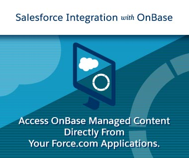 Rectangle Banner for Webpage: Salesforce Integration with OnBase