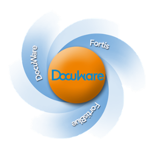 Logo for DocuWare, Fortis and FortisBlue