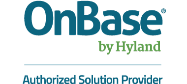 Logo for OnBase by Hyland Authorized Solution Provider
