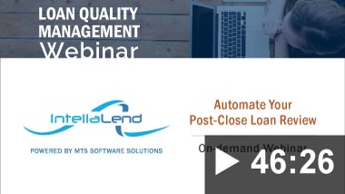 Thumbnail image for Webinar: Automate Your Post-Close Loan Review