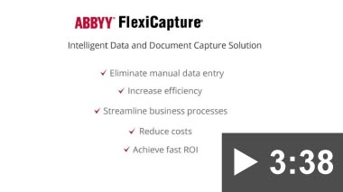 Thumbnail for video: ABBYY FlexiCapture – Powerful Data Capture